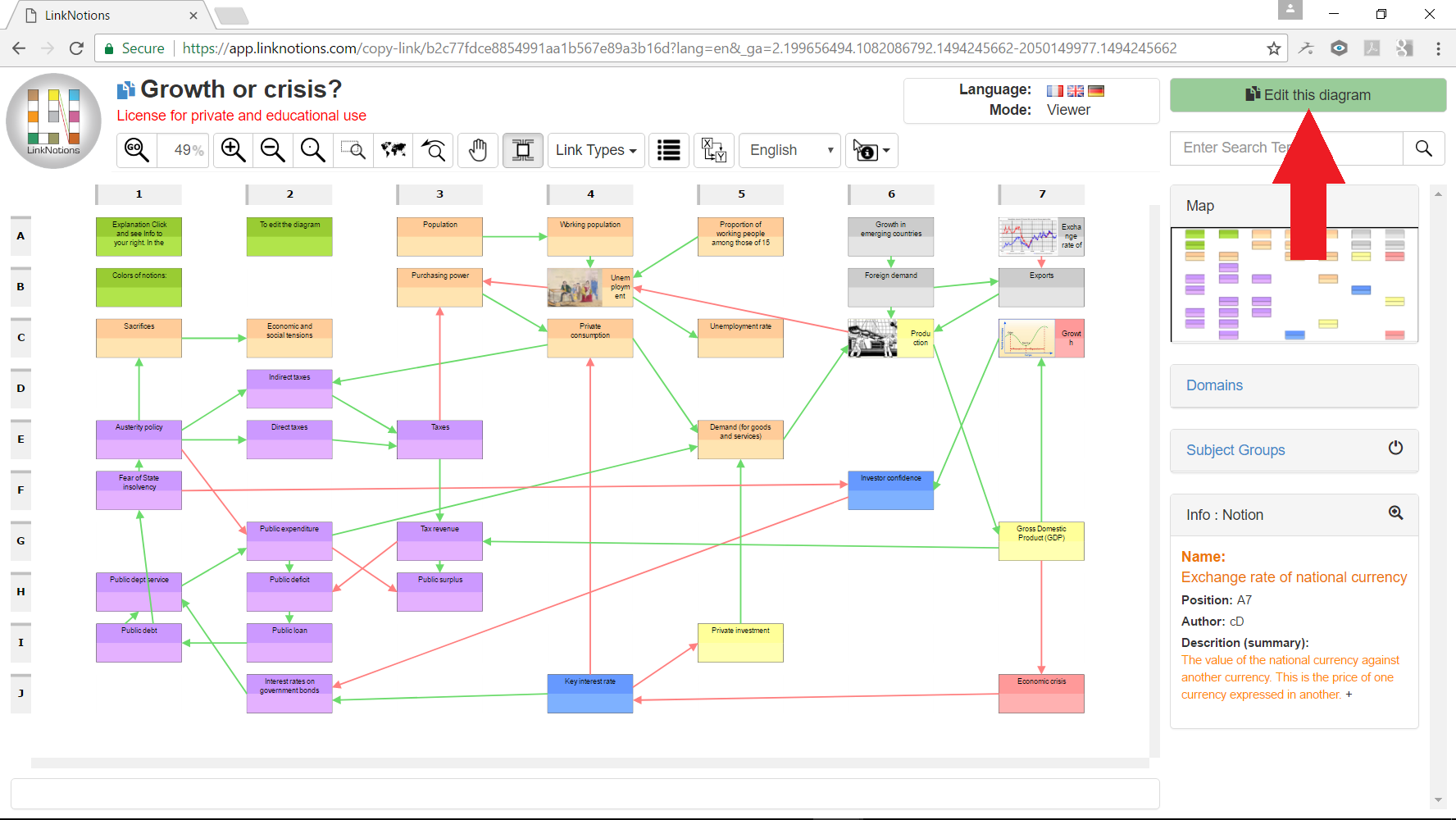 edit a diagram in your LinkNotions account