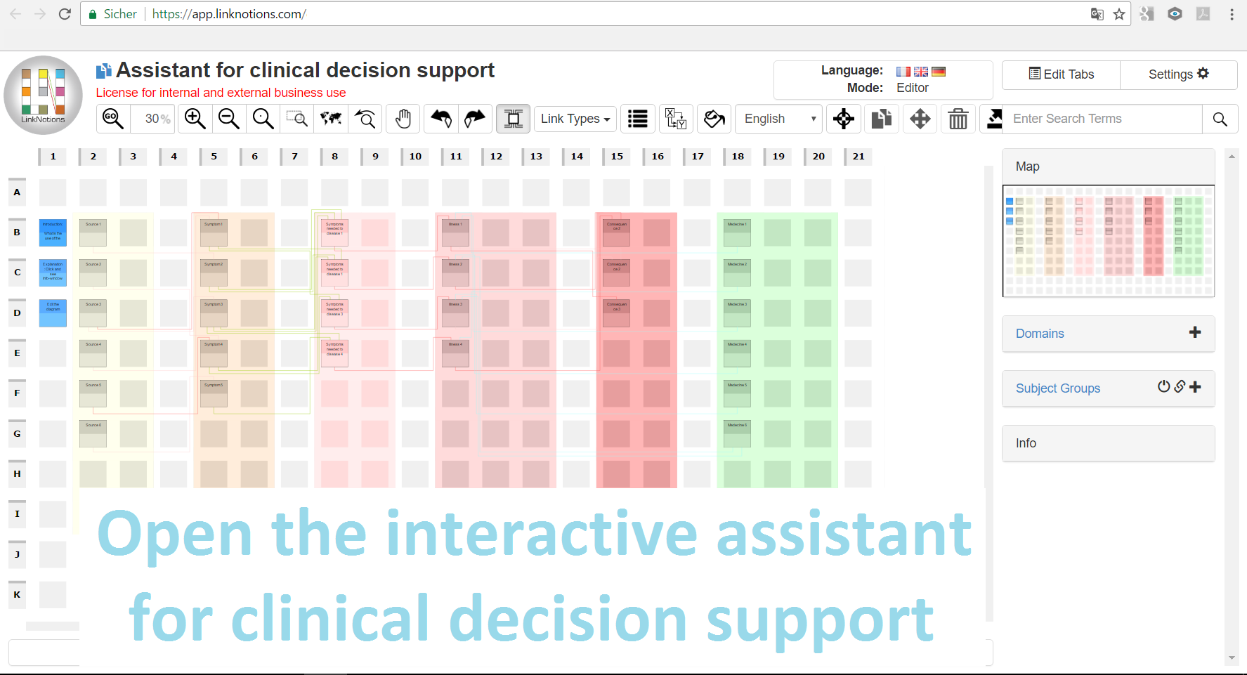 open the interactive diagram for medical monitoring
