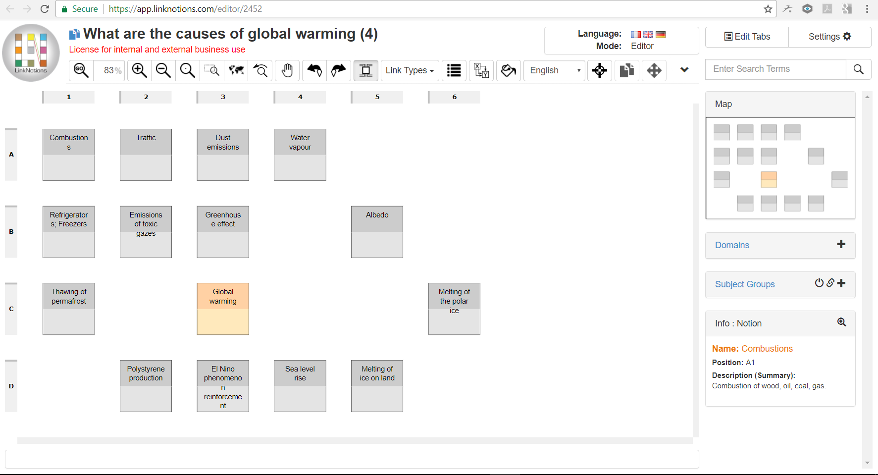 Add links when you create a concept map