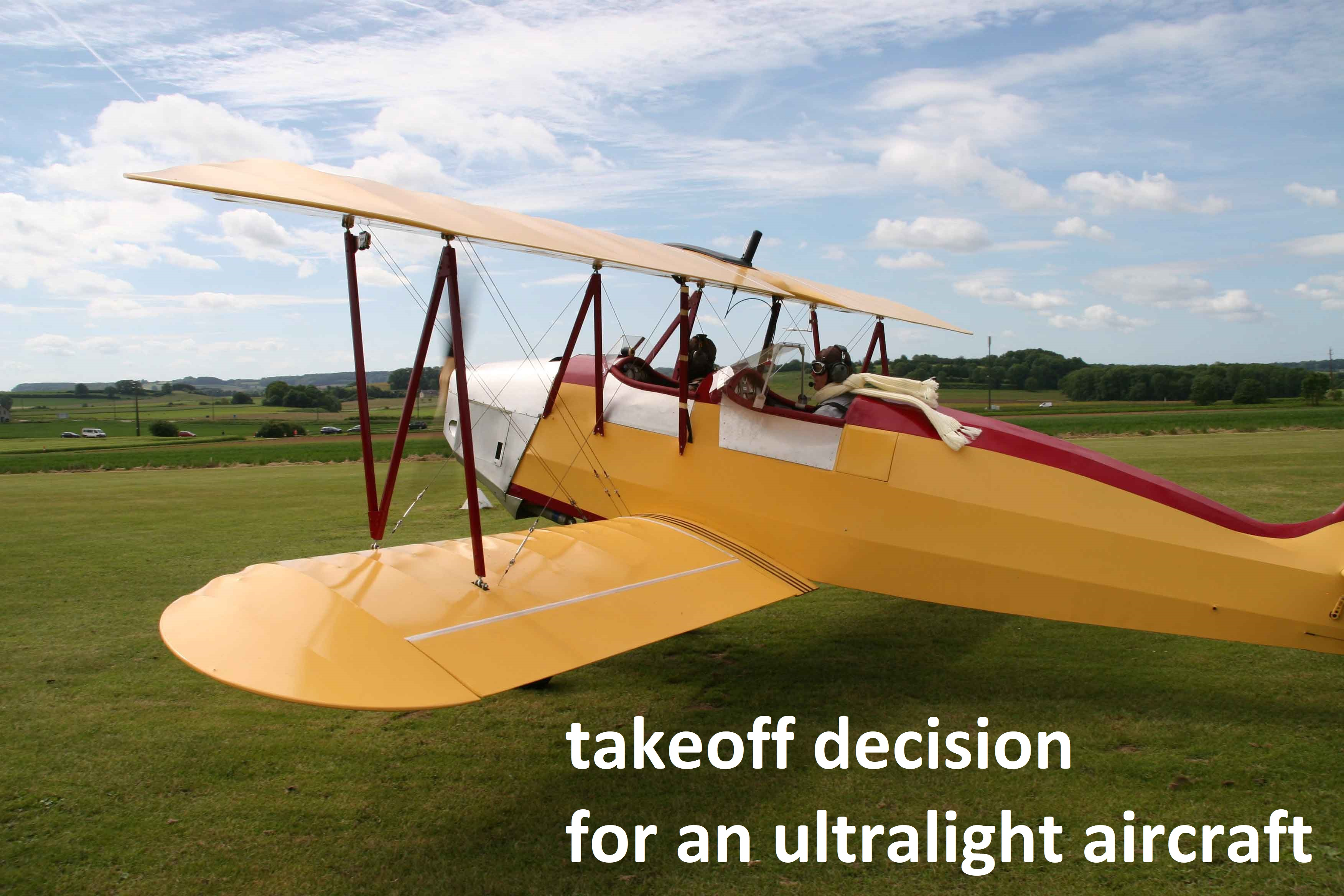 List of pages with calculation : takeoff decision for an ULM